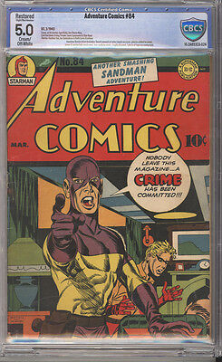 Adventure Comics # 84  Nobody Leave this Magazine !  CBCS 5.0 scarce book !