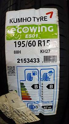 4 Pneumatici NUOVI Kumho 195/60 R15 88H Ecowing ES01 KH27 AFFARE!