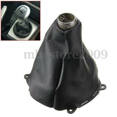 Manual Shift Shifter Boot PU Leather Black Stiched For Honda Civic Si 2006-2011