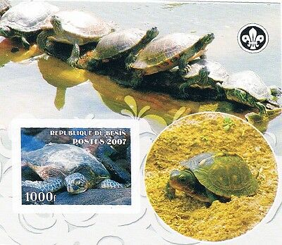 Bloc Sheet Tortues Turtles Neuf MNH ** IMP  Benin  2007 Private local/issue