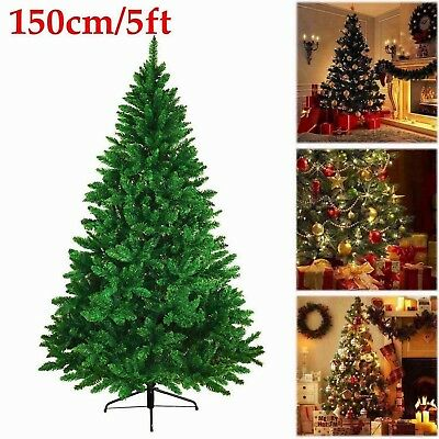 5ft Artificial Christmas Tree Green Pine Metal Stand Santa Xmas Indoor Decor