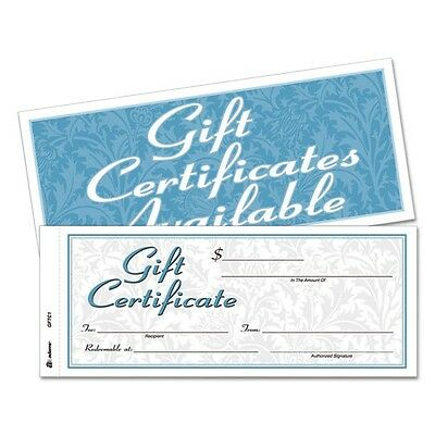 Adams Gift Certificates With Envelopes - GFTC1