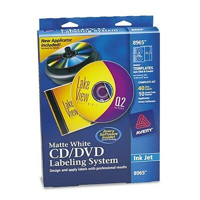 Avery CD & DVD Design Kit With Labels & Inserts - 8965