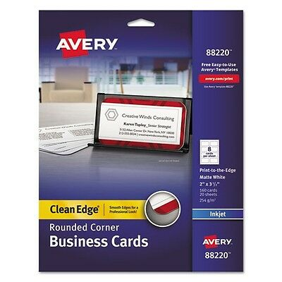 Avery Clean Edge Inkjet Business Cards - 88220