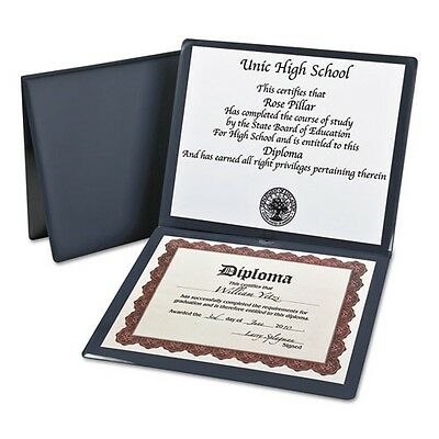 Oxford Padded Vinyl Diploma Cover With 2 Clear Pockets - 44212
