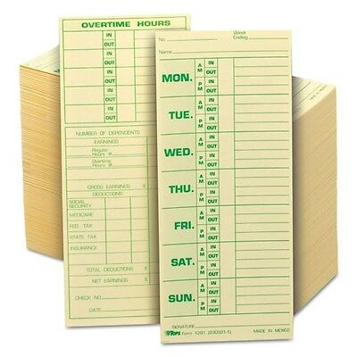 TOPS Weekly Time Cards - 1291