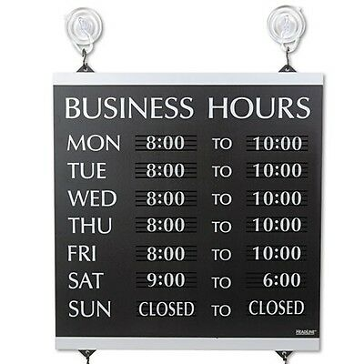Headline Sign Century Series Business Hours Sign - 4247