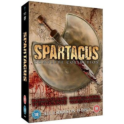 Spartacus: The Complete Collection Series 1-4 DVD (Slim Edition) Brand New