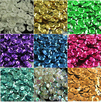 2000pcs 6mm NEW DIY Oval Round loose sequins Paillettes sewing Wedding craft pk