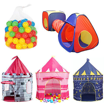 Kids Play Castle Tent Children Ball Pit Playhouse Indoor Outdoor Party UK