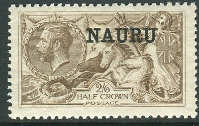 NAURU-1919-23 2/6 Pale Brown.  A lightly mounted mint example Sg 25