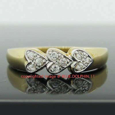 Genuine Solid 9ct Yellow Gold Engagement Wedding Dress Rings Simulated Diamonds