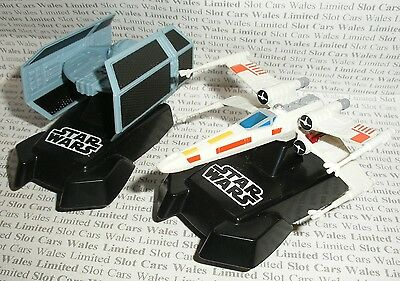 MICRO Scalextric - Pair of Star Wars Tie Fighter and X-Wing Starfighter - Exc.