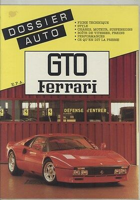 1984 Ferrari GTO History Dossier Auto ORIGINAL Book Brochure French ww4145