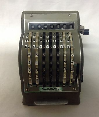 Vintage Mechanical Calculator - Made In Germany - Summira 7 - Leather Case