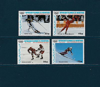 Mauritanie PA jeux olympiques  Calgary  1987  num: 251/54 **