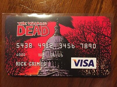 The Walking Dead faux (fake) credit card.