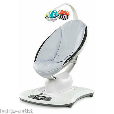 4Moms LCD MAMAROO SWING Adjustable Electric BABY BOUNCER Classic Grey Gently Use