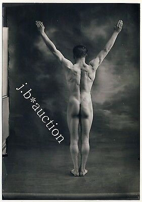 Beefcake NUDE BODYBUILDER CULTURISTE Athlete * Rare Vintage 1920s Photo GAY INT