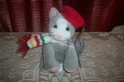HBC Grey Charity  Kitty Cat Plush Christmas Gift Tag holder all tags