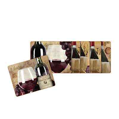 NEW Cinnamon Old World Wine Placemats Set of 6 (RRP $40)