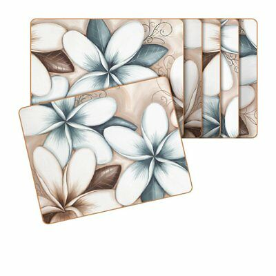 NEW Cinnamon Ocean Frangipani Placemats Set of 6 (RRP $40)