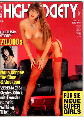 High Society Nr.2/94  - Vintage Farbfoto-Magazin
