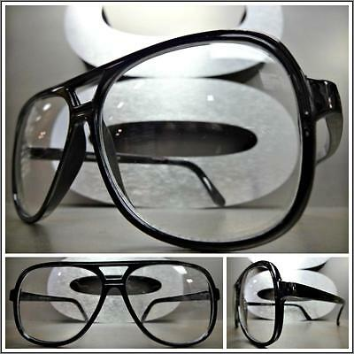 Men's or Women CLASSIC VINTAGE Style Clear Lens EYE GLASSES Black Fashion Frame