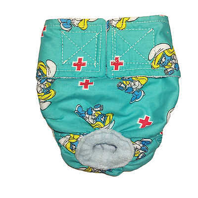 Washable Cover-up / Diaper made from Nurse Smurfette fabric Rabbit Diaper, Bu...