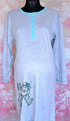 Ladies maternity nightdress nightwear with two sides buttons long sleeve M62