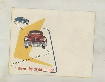 1949 Kaiser Frazer Used Car Features Brochure Poster ww4367