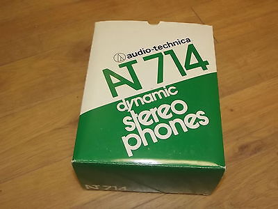audio technica AT714 Stereo Vintage Headphones NEW Made in Japan