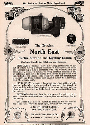 1913 Ad North East Electric Starting System Auto Motor Generator