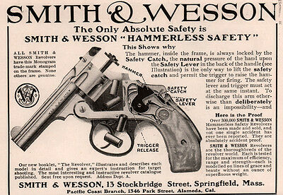 1907 Ad Smith And Wesson Revolver  Hammerless Safety Diagram