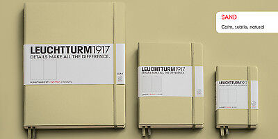 Leuchtturm1917 Notebook Medium A5 Dotted Pages - Sand Cover (New Colour)