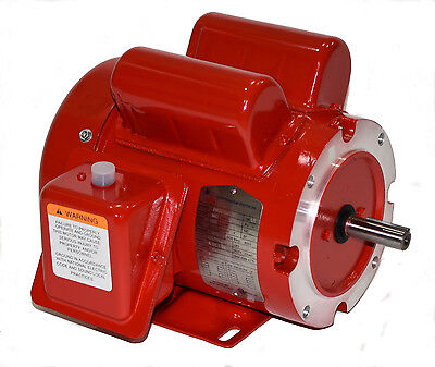 2 hp electric motor 56/56C Frame 1 phase 1800 115/230  farm duty manual overload