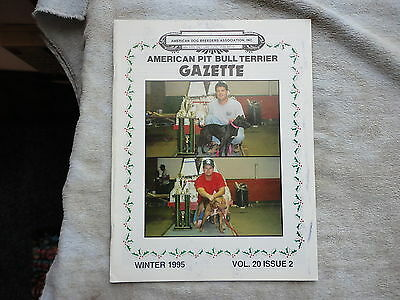 American Pit Bull Terrier Gazette Winter 1995