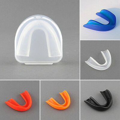 Sports Mouth Guard Gum Shield Grinding Teeth Protect For Boxing MMA 5 Colors