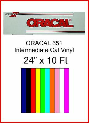 "24"" x 10 Ft roll, Oracal 651 Sign Cutting Vinyl, $0.59-0.73 per Sq-Ft"
