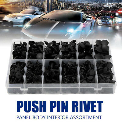 330 Clips Push Pins Rivet Retainers Trim Assortment For GM Ford For Toyota Honda