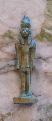 Ancient (Rare) Egyptian Goddess, Sekhmet (Green Faience),  (SK122016)  *SPECIAL*