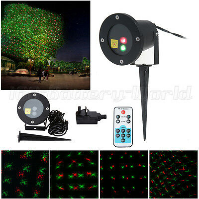 Waterproof Outdoor Xmas Lawn Garden Laser Projector Moving Stage LED Light R&G
