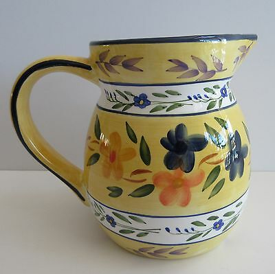 Water Beverage Pitcher Yellow Floral Harry and David Ceramic 8 cup Vase