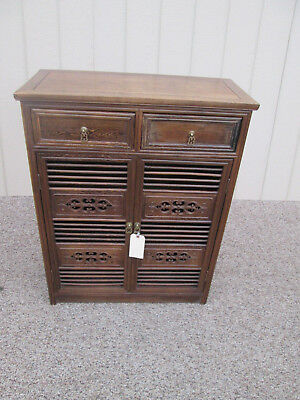 54677   Oriental 2 Door Bookcase  Cabinet Chest