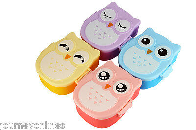 Cartoon Owl Lunch Box Food Plastic Storage Container Microwave Oven for Children