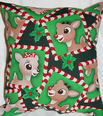 New Handmade Rudolph The Red Nosed Reindeer  Bed/travel Pillow @@