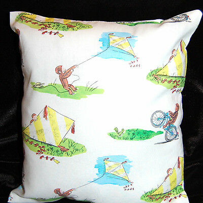 New Handmade Curious  George  Toddler/ Daycare / Travel Pillow - White