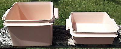 Set of 2 Vintage TUPPERWARE Sandwich Keepers 1362 -17 & 1674 -8