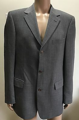 (Used) Hugo Boss 3 Button Charcoal Angelico/Parma  Suit Jacket/Blazer Size: 40