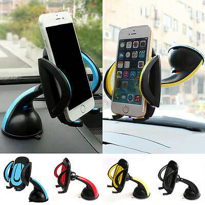 Universal Mobile Phone GPS Windscreen Dashboard Holder Mount Cradle Stand In Car